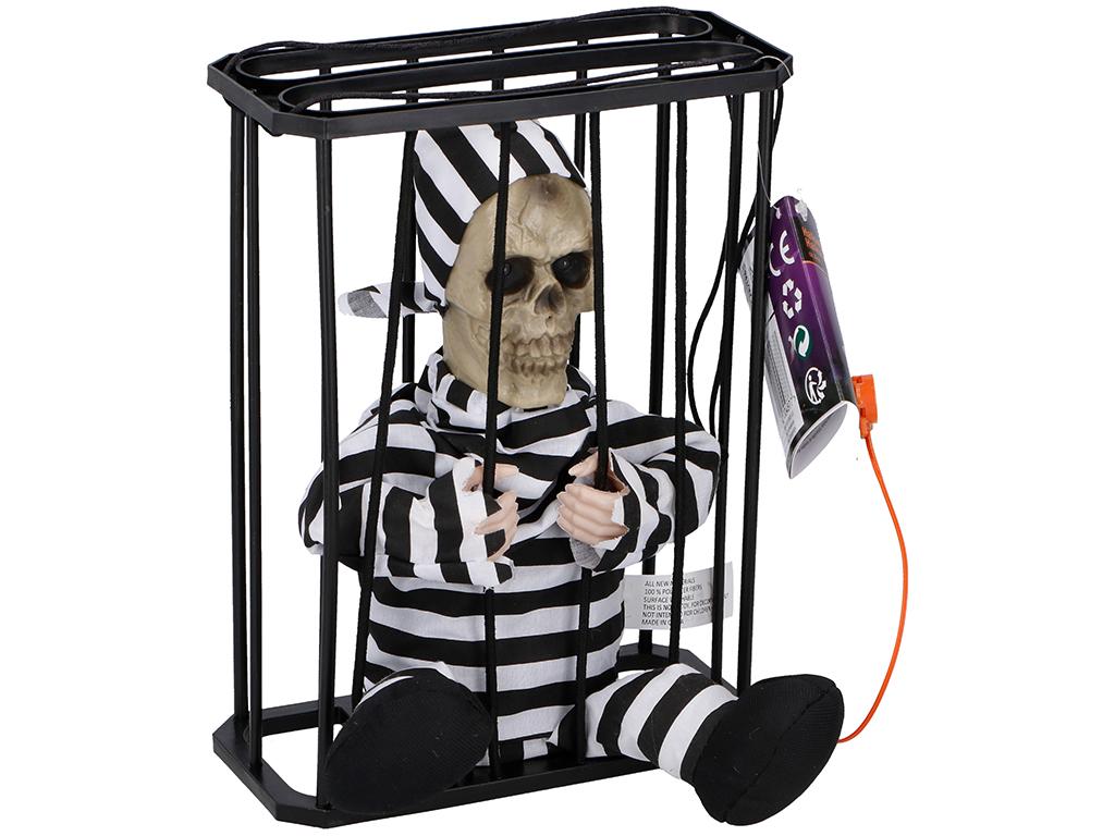 Arti Casa Αποκριάτικο Halloween Παιχνίδι Φυλακισμένος σε Κλουβί που Μιλάει με Αι εποχιακά   αποκριάτικα είδη