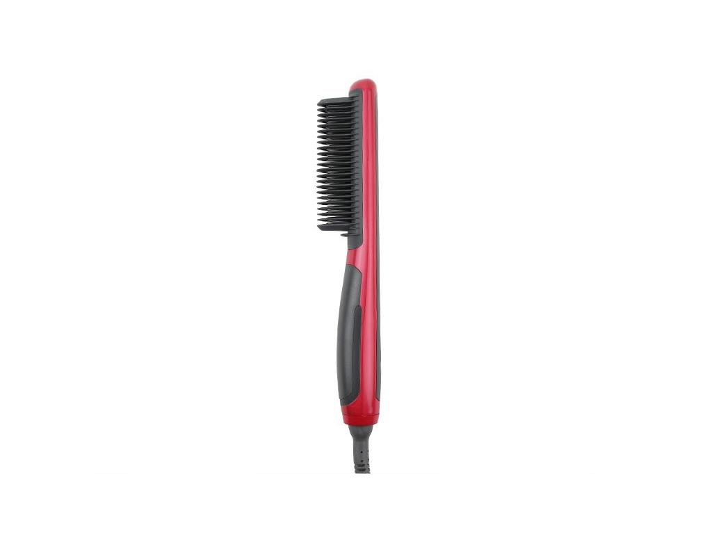 Ηλεκτρικό Ισιωτικό Σίδερο Μαλλιών 29W με Ενσωματωμένη Χτένα με 6 ρυθμίσεις  θερμοκρασίας και Κεραμικές πλάκες σε Κόκκινο χρώμα 38950d93601