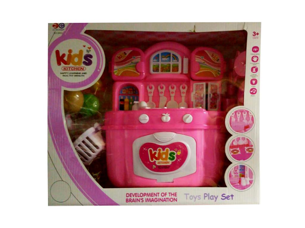 Παιχνίδι Κουζίνα Μπαταρίας με Ήχο και Φως σε Ροζ χρώμα - OEM παιχνίδια   άλλα παιχνίδια
