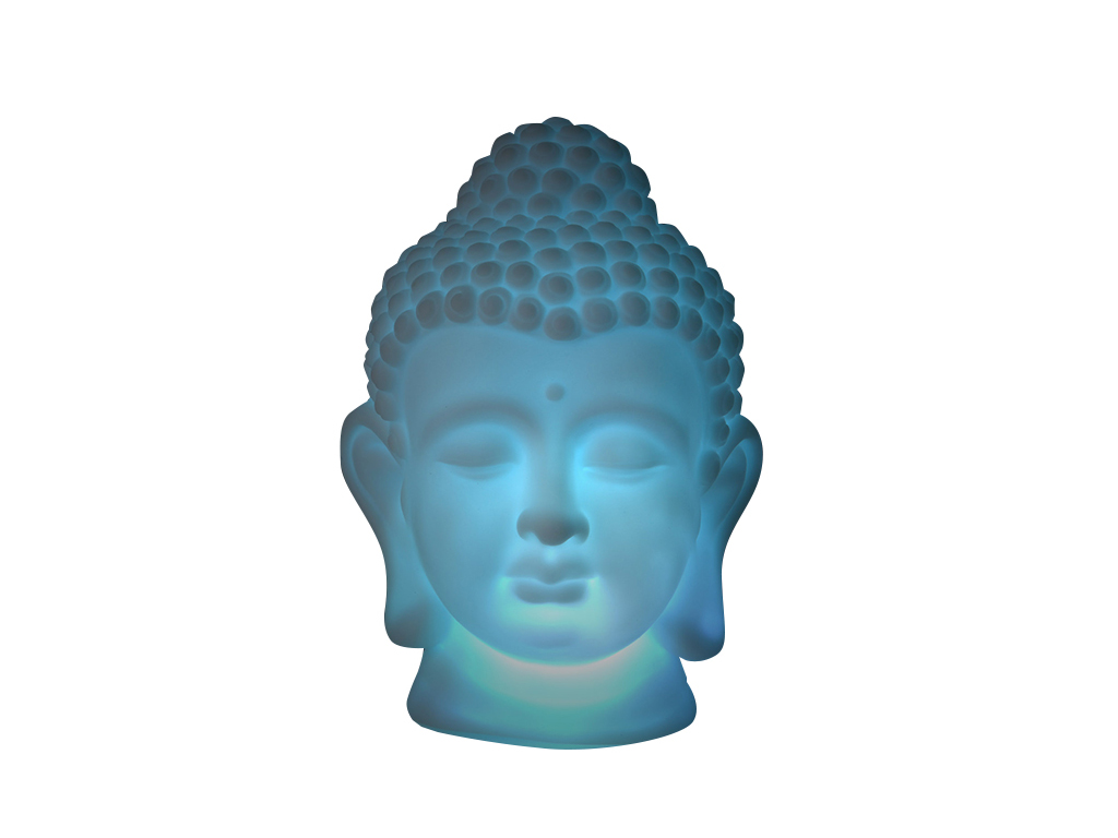 Διακοσμητικό Φωτιστικό Πολύχρωμο LED Κεφάλι Βούδα Buddha 13x18x12cm - Cb διακόσμηση και φωτισμός   led φωτισμός