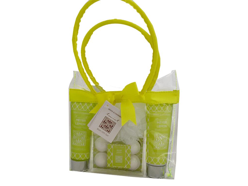 Σετ Μπάνιου 7 τεμ. με είδη Περιποίησης Σώματος Meyer Lemon σε Συσκευασία Δώρου Τ εκδηλώσεις και γιορτές   είδη δώρου