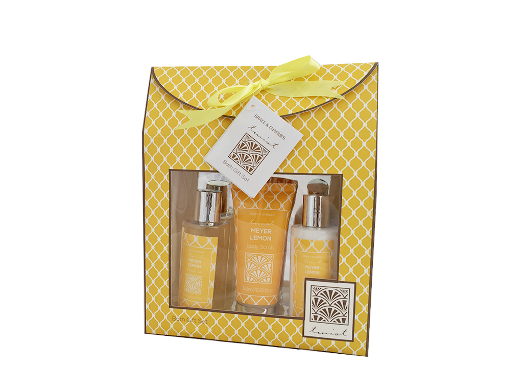 Σετ Μπάνιου 3 τεμ. με είδη Περιποίησης Σώματος Meyer Lemon σε Συσκευασία Δώρου - εκδηλώσεις και γιορτές   είδη δώρου