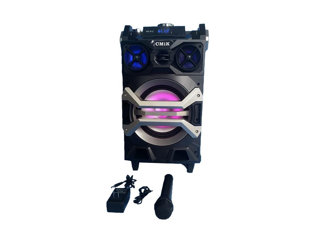 Φορητό Ασύρματο Επαναφορτιζόμενο Ηχείο Karaoke Bluetooth USB/TF/MMC με Ράδιο FM  τεχνολογία   ηχεία