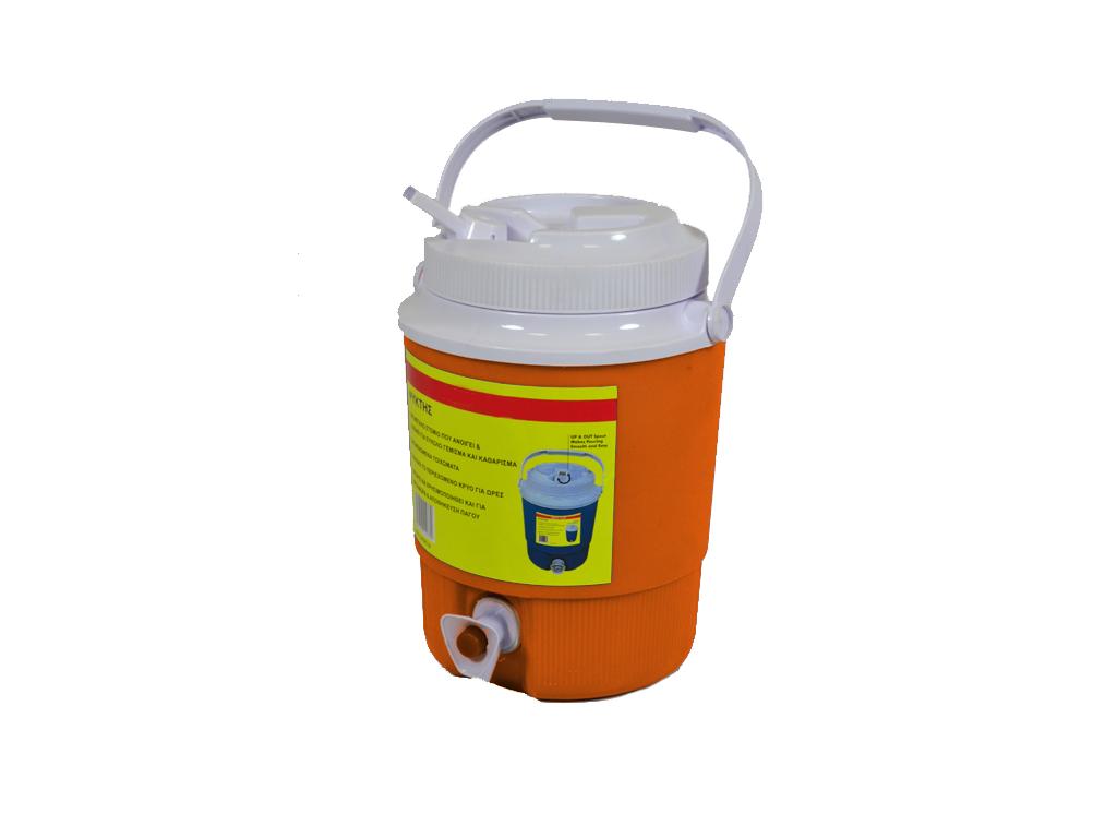 Φορητός Ψύκτης νερού 8lt με Στόμιο και Βρύσάκι με κουμπί Πορτοκαλί - OEM μικροσυσκευές   ψυγεία συντηρητές κρασιών