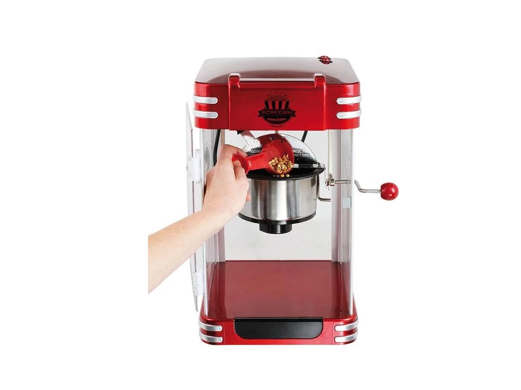 Domoclip Ρετρό Μηχανή Ποπ Κορν 310W Pop Corn Maker σε Κόκκινο χρώμα, DOM365 - Do ηλεκτρικές οικιακές συσκευές   παρασκευαστές ποπ κορν