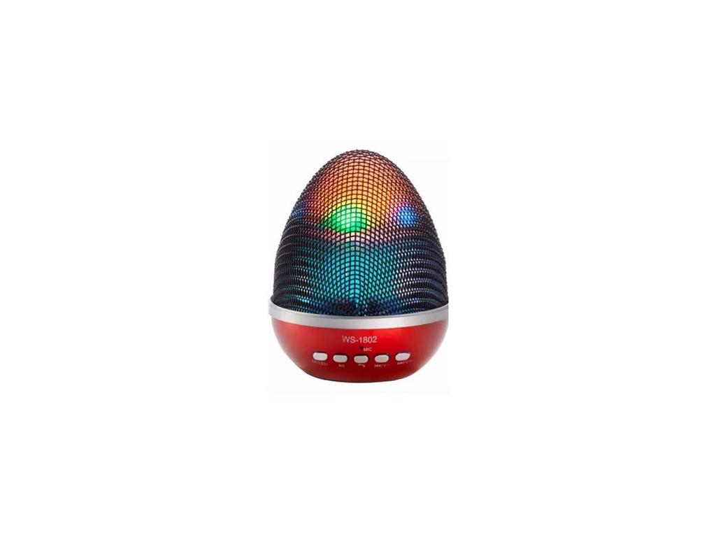 Bluetooth Ηχείο multimedia 3W με εναλλαγή χρωμάτων, WS-1802 Χρώμα Κόκκινο - OEM εκδηλώσεις και γιορτές   είδη πάρτυ