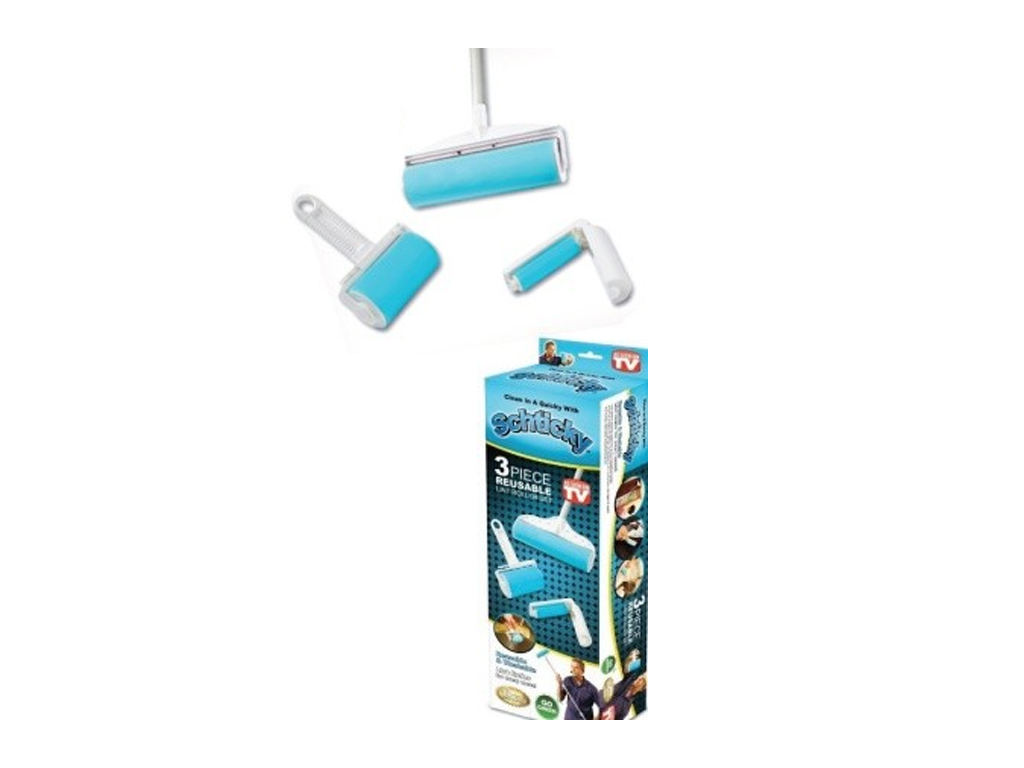 Schticky Σετ Καθαριστικό Ρόλερ 3 τεμ. για Τρίχες, Χνούδια, Σκόνη και Ψίχουλα, SC είδη καθαρισμού   γενικής χρήσης