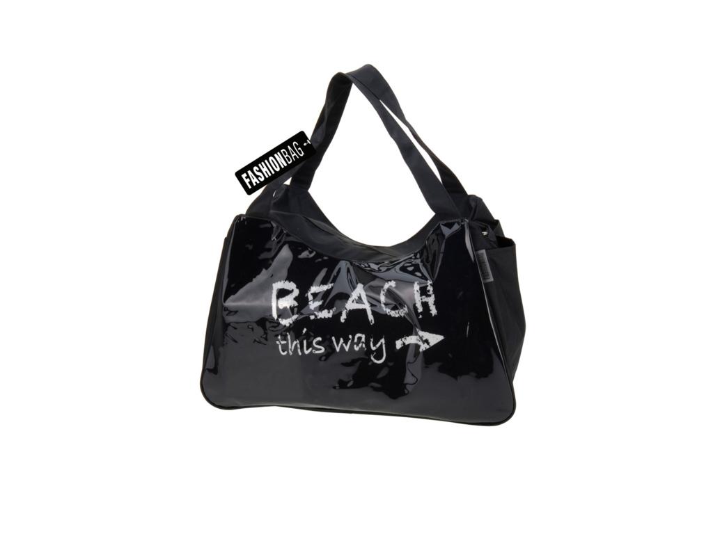Τσάντα Ώμου πολλών χρήσεων για Παραλία και Ψώνια 53x34x26cm σε Μαύρο χρώμα - Cb αναψυχή και ψυχαγωγία   τσάντες για ψώνια