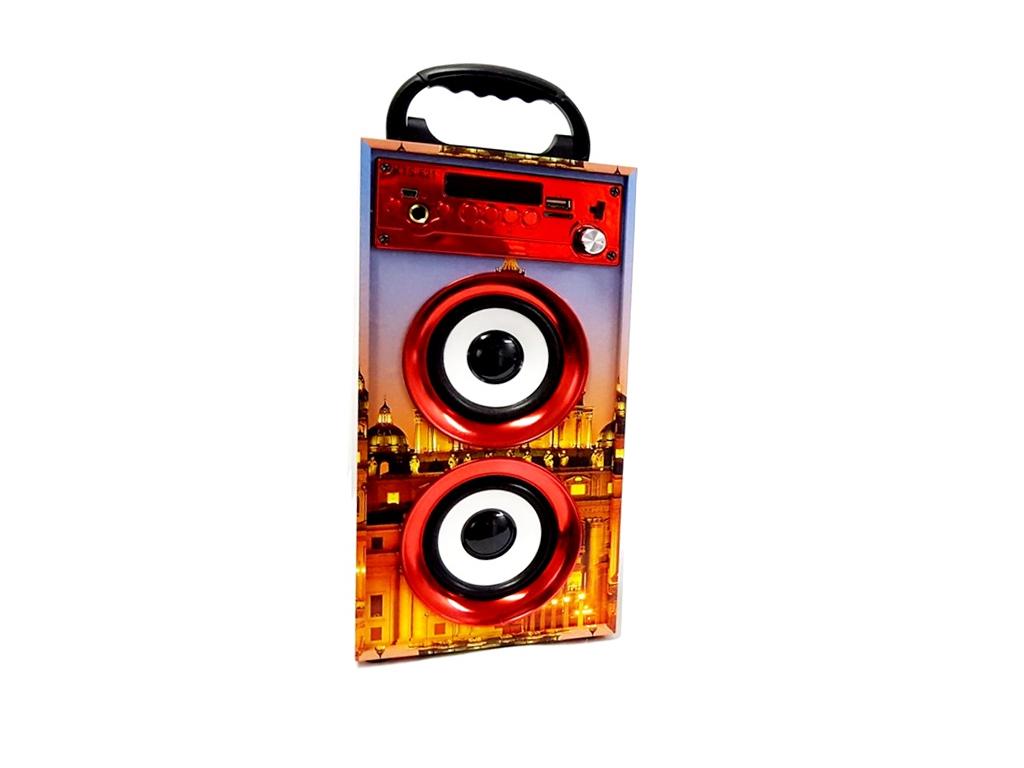 Φορητό Ηχείο Bluetooth Karaoke 2x5W με θέμα Μεγάλες Πόλεις, KTS-621 - OEM τεχνολογία   ηχεία