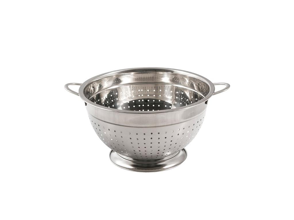 Σουρωτήρι από Ανοξείδωτο Ατσάλι 24cm με Λαβές και Βάση, 648660 - OEM αξεσουάρ και εργαλεία κουζίνας   σουρωτήρια