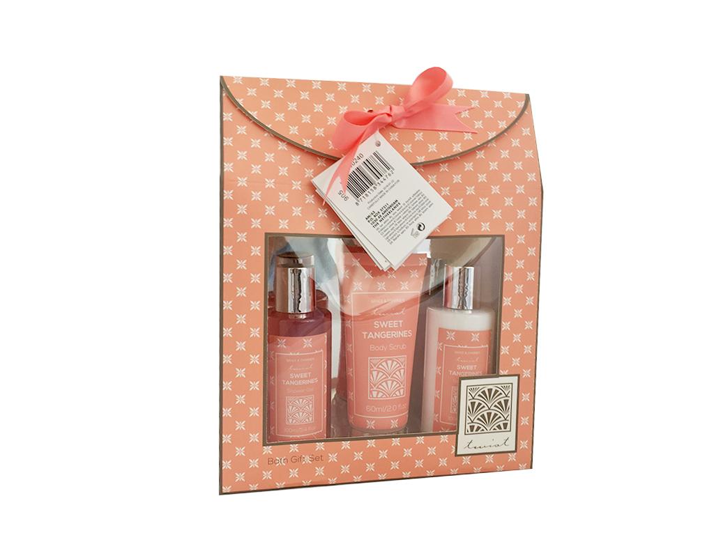 Σετ Μπάνιου 3 τεμ. με είδη Περιποίησης Σώματος Sweet Tangerines σε Συσκευασία Δώ προϊόντα ομορφιάς   προϊόντα μπάνιου
