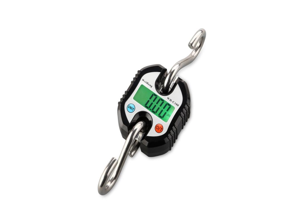 Μίνι επαγγελματική ζυγαριά μπαταρίας 100 κιλών με Τσιγκέλι, WH-C100 Χρώμα Μαύρο - OEM