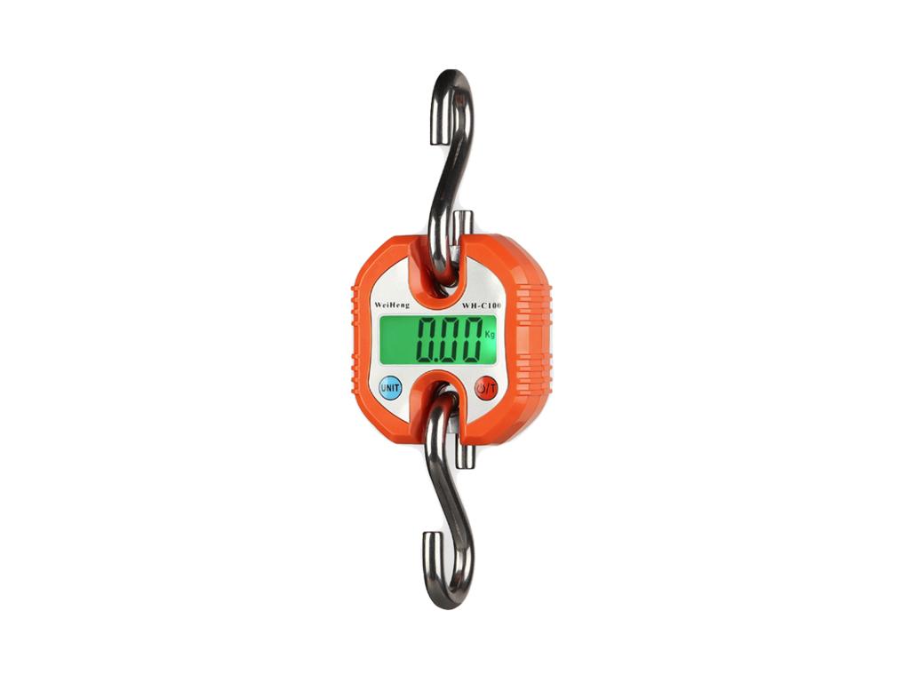 Μίνι επαγγελματική ζυγαριά μπαταρίας 100 κιλών με Τσιγκέλι, WH-C100 Πορτοκαλί -  επαγγελματικά   ζυγαριές