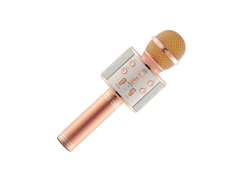 Ασύρματο bluetooth μικρόφωνο με ενσωματωμένο ηχείο και karaoke, WS-858 Ροζ Χρυσό τεχνολογία   μικρόφωνα