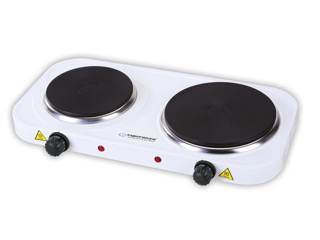 Esperanza Διπλή Ηλεκτρική Εστία 1000+1500W με 5 Επίπεδα Θέρμανσης και Αντικολλητ ηλεκτρικές οικιακές συσκευές   εστίες μαγειρέματος
