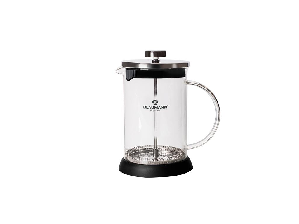 Blaumann Χειροκίνητη Καφετιέρα για Γαλλικό και Τσάι 600ml από Ανοξείδωτο ατσάλι, ηλεκτρικές οικιακές συσκευές   καφετιέρες και είδη καφέ