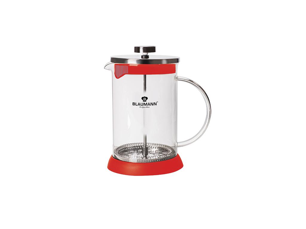 Blaumann Χειροκίνητη Καφετιέρα για Γαλλικό και Τσάι 350ml από Ανοξείδωτο ατσάλι, BL-3274 Χρώμα Κόκκινο - Blaumann