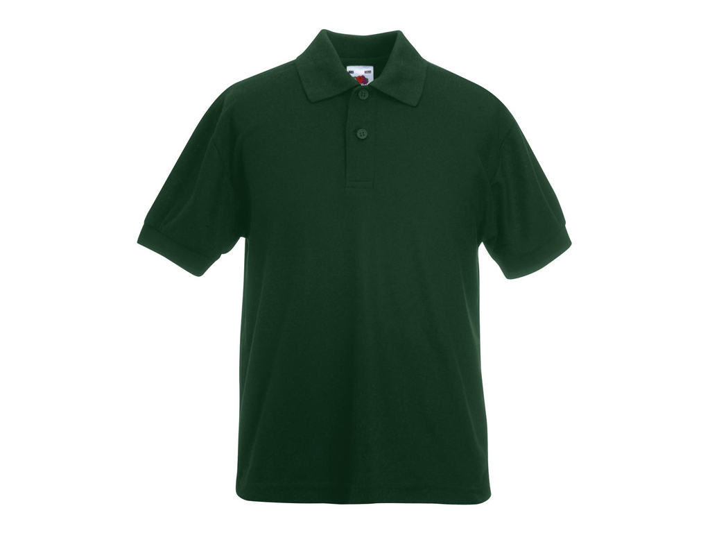 Fruit of the Loom Παιδικό Πόλο Μπλουζάκι με κουμπιά Kids Polo 65/35, Forest Gree μωρά και παιδιά   είδη ένδυσης και υπόδησης για παιδιά