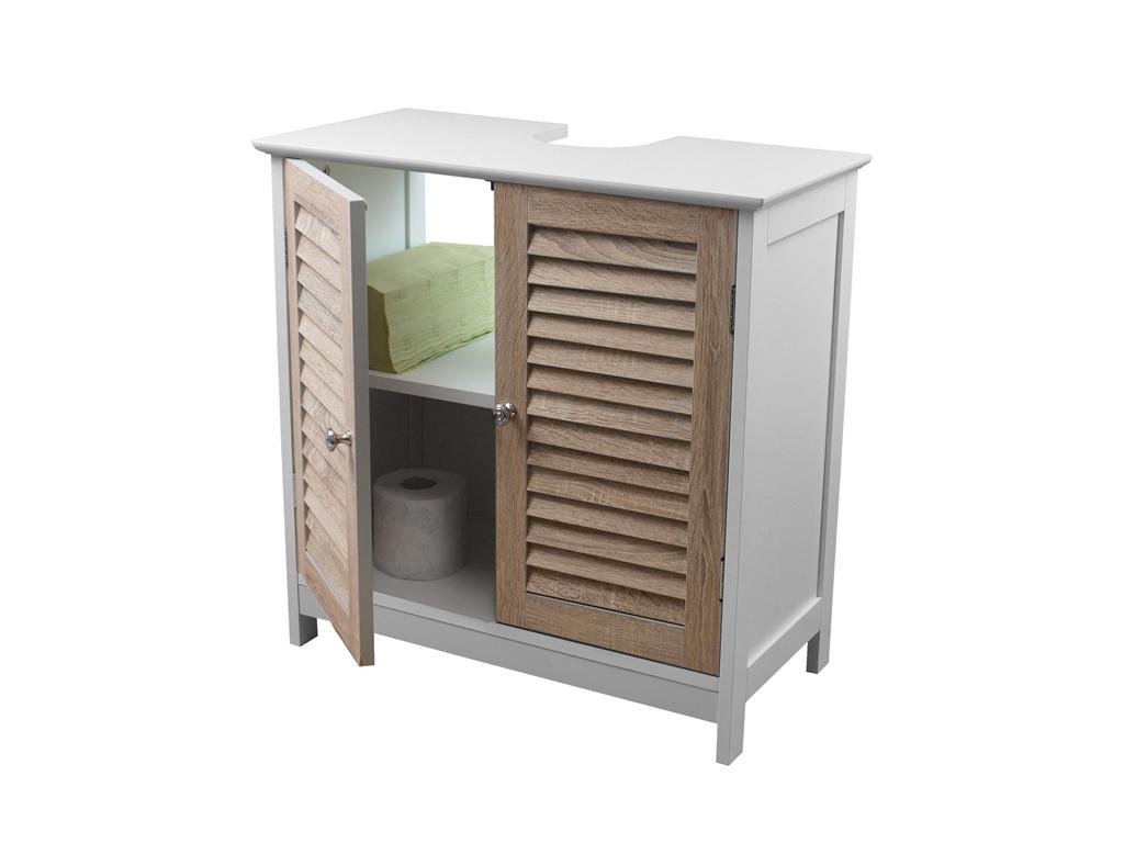Homestyle Ξύλινο Έπιπλο Διπλό Ντουλάπι Γενικής Χρήσης 60x30x60cm με 2 Πόρτες και έπιπλα   οργανωτές αντικειμένων
