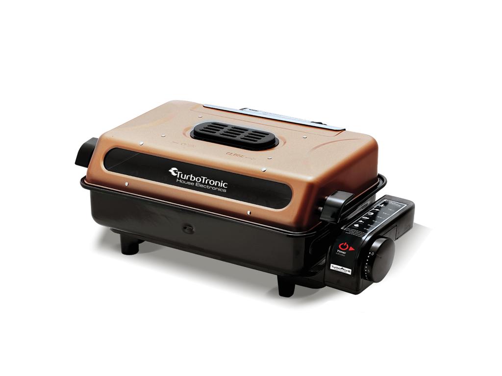 TurboTronic Ηλεκτρική ρυθμιζόμενη Ψηστιέρα Γκριλιέρα (Grill) 800-920W με αφαιρού ηλεκτρικές οικιακές συσκευές   ηλεκτρικές πλάκες γκριλ και σχάρες