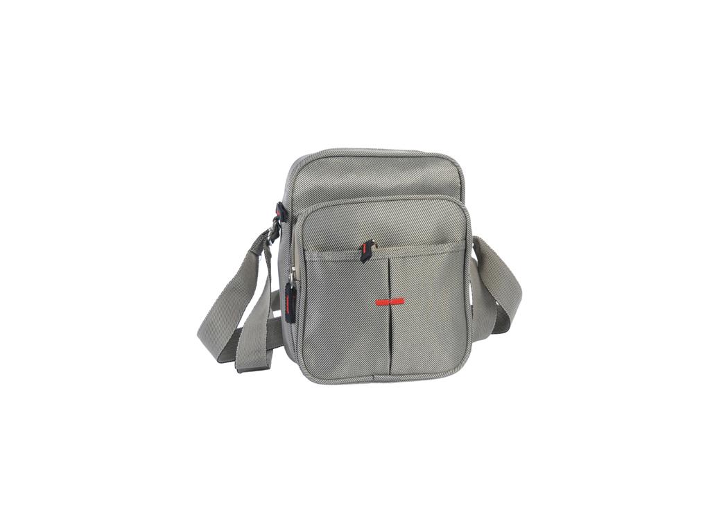 Ανδρικό Τσαντάκι Ταχυδρόμου μικρό 17x21.5x9cm από Πολυεστέρα με κλείσιμο φερμουά αξεσούαρ   τσάντες και πορτοφόλια