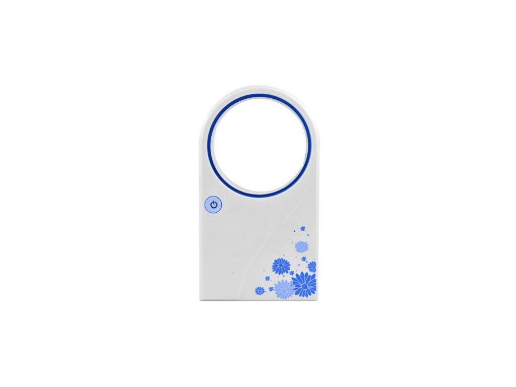 Επιτραπέζιο USB Ανεμιστηράκι Χειρός Τσέπης Χωρίς Πτερύγια με Λειτουργία εξάτμισης νερού Χρώμα Γαλάζιο - OEM