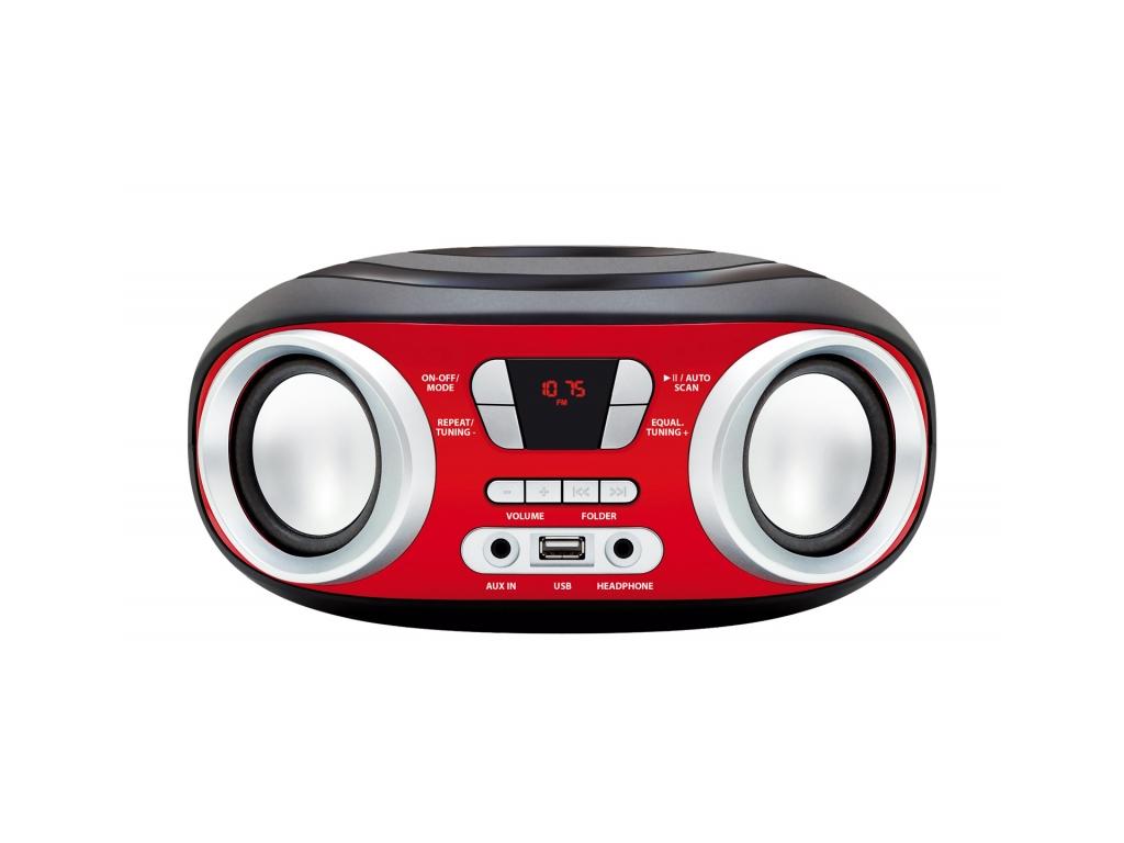 Manta Chilli Φορητό Boombox Bluetooth MP3 Player με 2 x 3W Ηχεία, FM Ραδιόφωνο κ ήχος   radio cd
