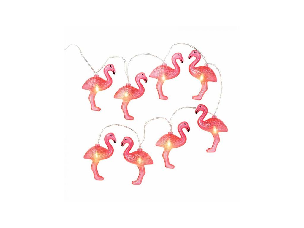 Φορητά Διακοσμητικά Φωτάκια 10 LED Flamingo σε Καλώδιο 1.65m, 57/8018 - Out Of T διακόσμηση και φωτισμός   led φωτισμός