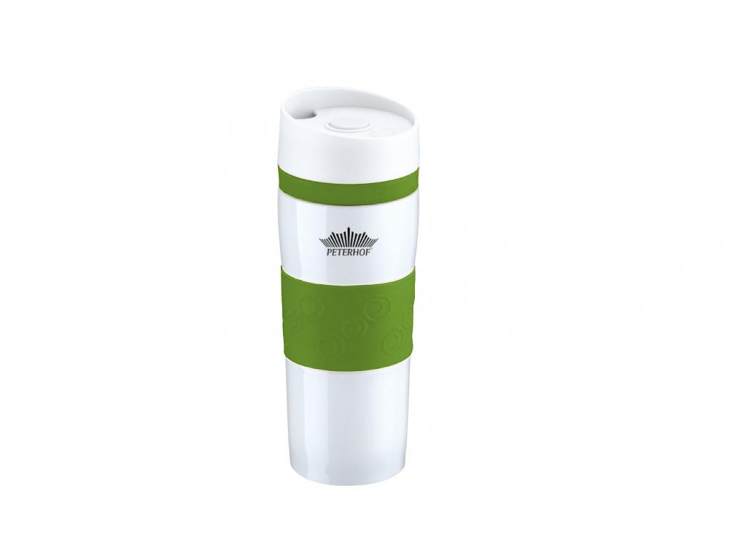 Peterhof Κούπα Θερμός Ταξιδιού με Καπάκι Ασφαλείας 400ml από Ανοξείδωτο ατσάλι 1 κουζίνα   θερμός και παγούρια