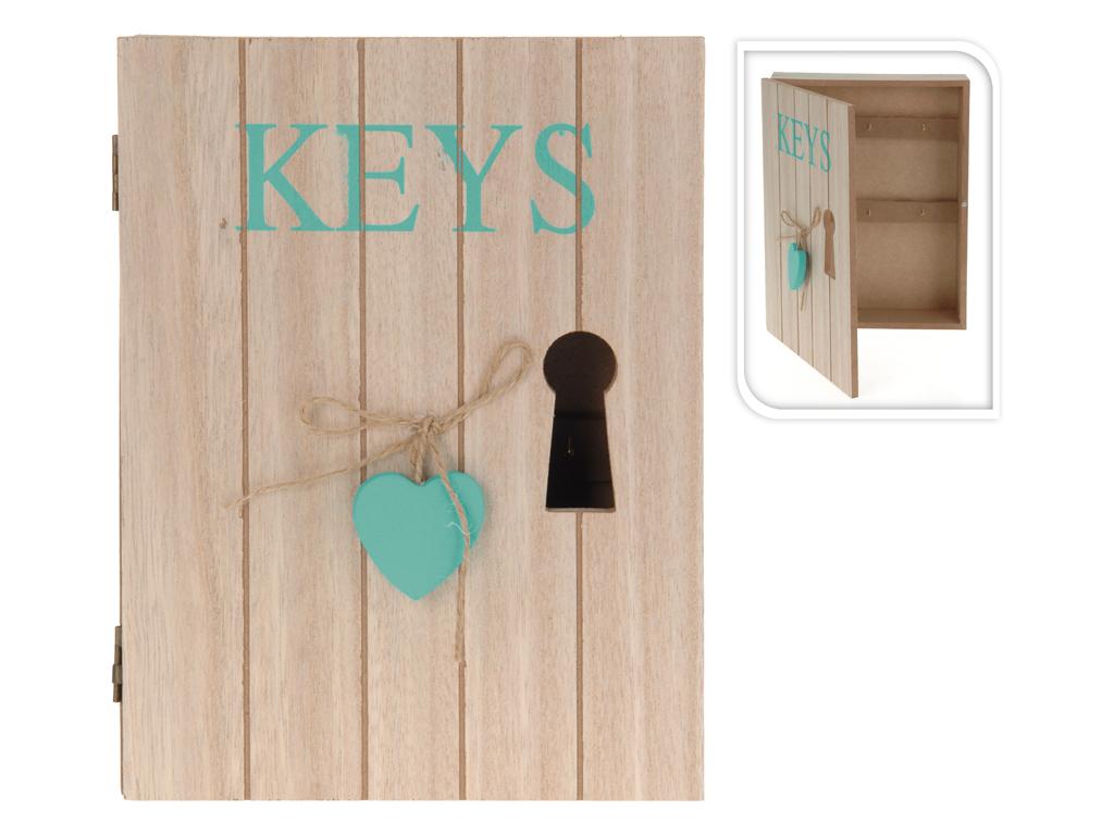 Ξύλινη Κλειδοθήκη 24x18x5cm με 6 γάντζους Διακοσμητική Κλειδαρότρυπα και κρεμαστ οργάνωση σπιτιού   κλειδοθήκες