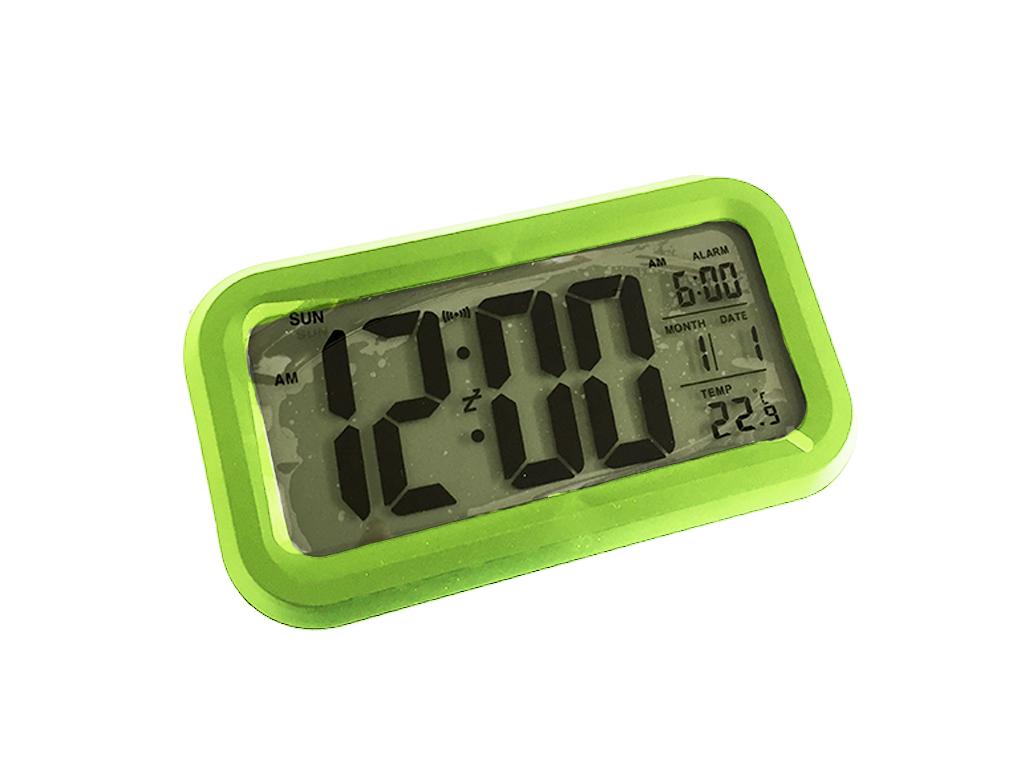 Polaroid Ψηφιακό Ρολόι Ξυπνητήρι, LCD οθόνη & Ένδειξη θερμοκρασίας, 87025 Χρώμα Πράσινο - Polaroid