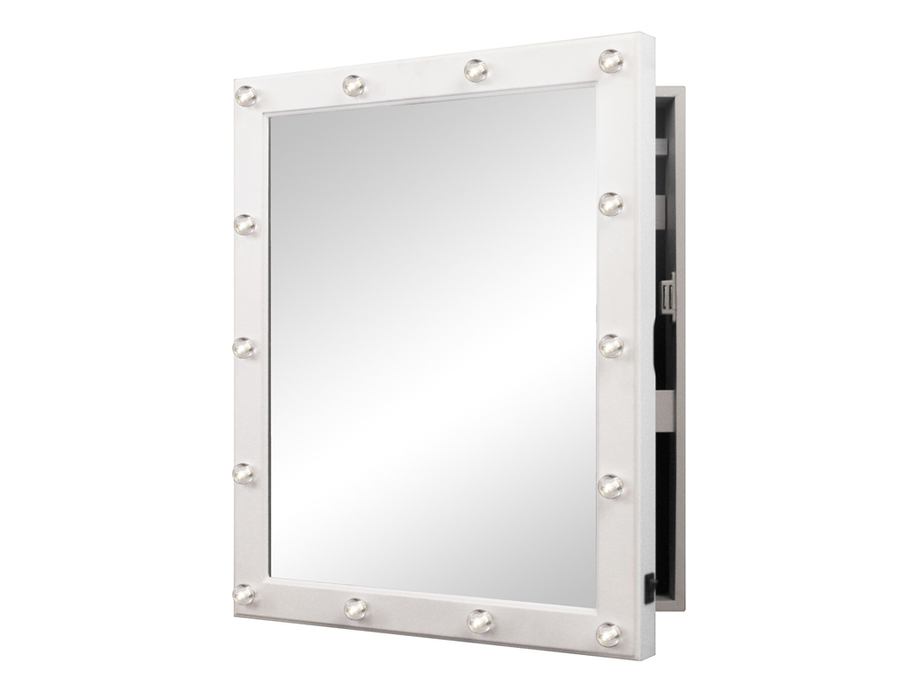 Φωτιζόμενη LED Κοσμηματοθήκη Μπιζουτιέρα Ντουλάπι Τοίχου με Καθρέφτη σε Στυλ Καμ διακόσμηση   κορνίζες πίνακες καθρέφτες