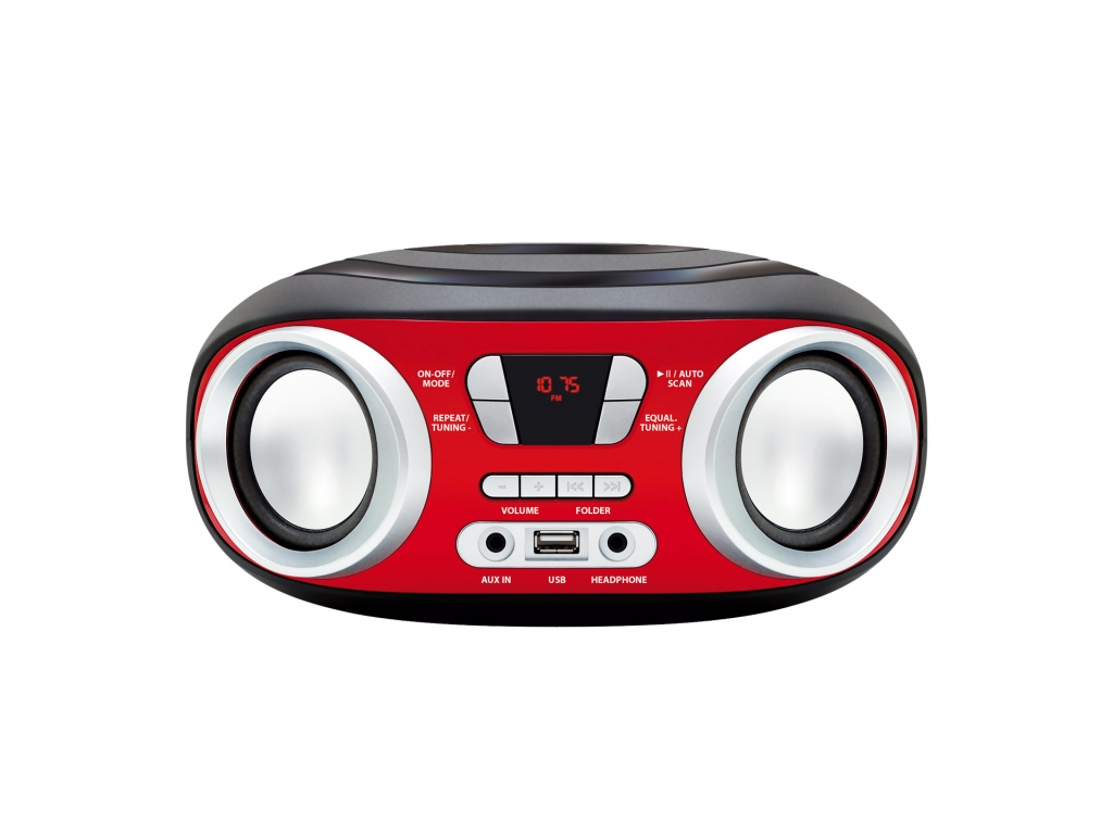 Manta Chilli Φορητό Boombox MP3 Player με 2 x 3W Ηχεία, FM Ραδιόφωνο, υποδοχές U ήχος   radio cd