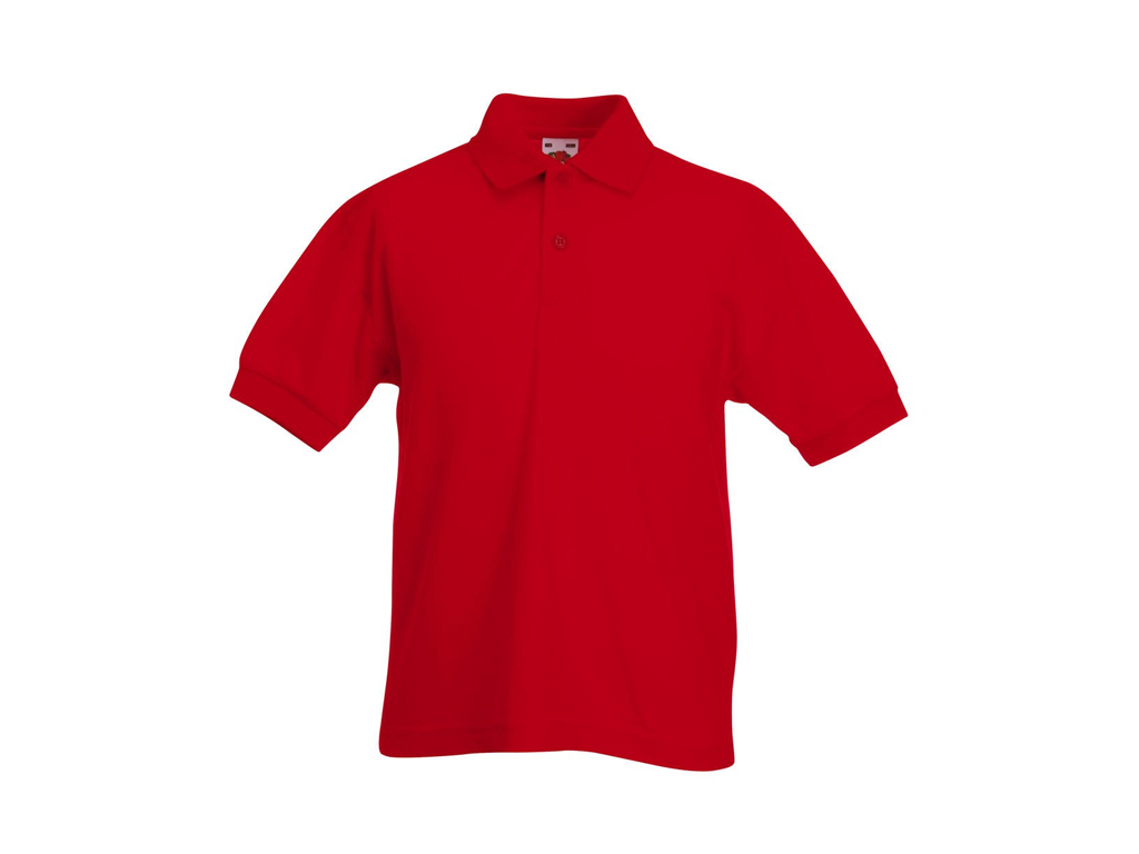 Fruit of the Loom Παιδικό Πόλο Μπλουζάκι με κουμπιά Kids Polo 65/35, Red No 40,  μωρά και παιδιά   είδη ένδυσης και υπόδησης για παιδιά