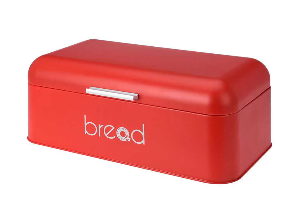 Ρετρό Ψωμιέρα από Ανοξείδωτο ατσάλι 42x22x16cm με Λαβή και Ματ φινίρισμα Χρώμα Κ