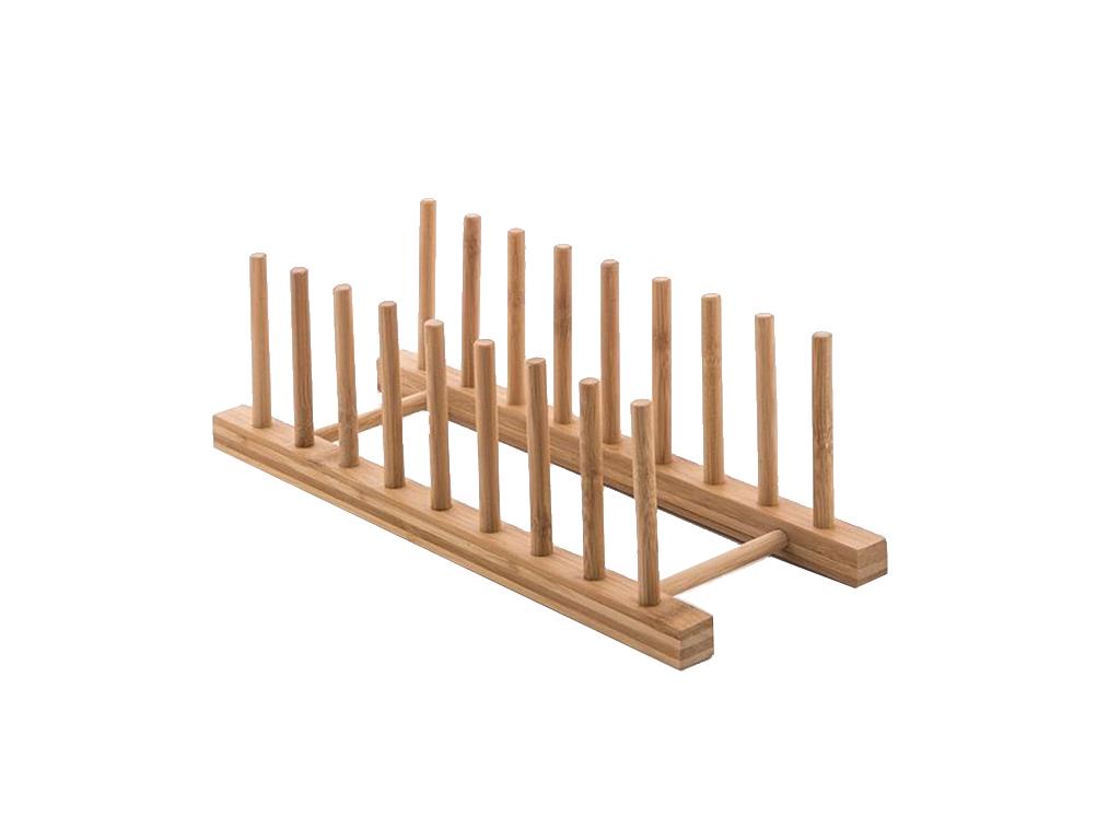 Ξύλινο Στεγνωτήριο Στραγγιστήρι Πιάτων 34x12x12.5cm, V0200620 - Cb
