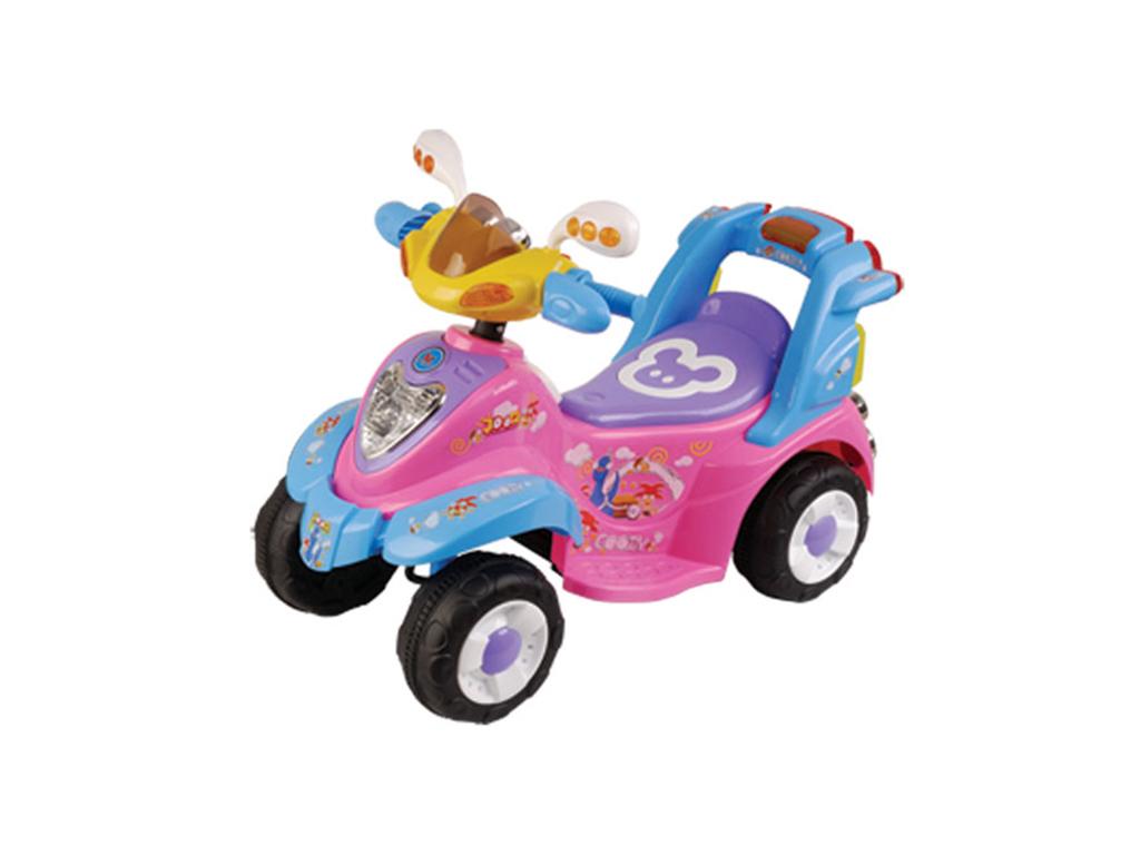 Παιδική Ηλεκτροκίνητη Μηχανή Γουρούνα 6V 80x39x48cm, 358 Χρώμα Ροζ - Cb παιχνίδια   τηλεκατευθυνόμενα  πίστες και αυτοκινητάκια