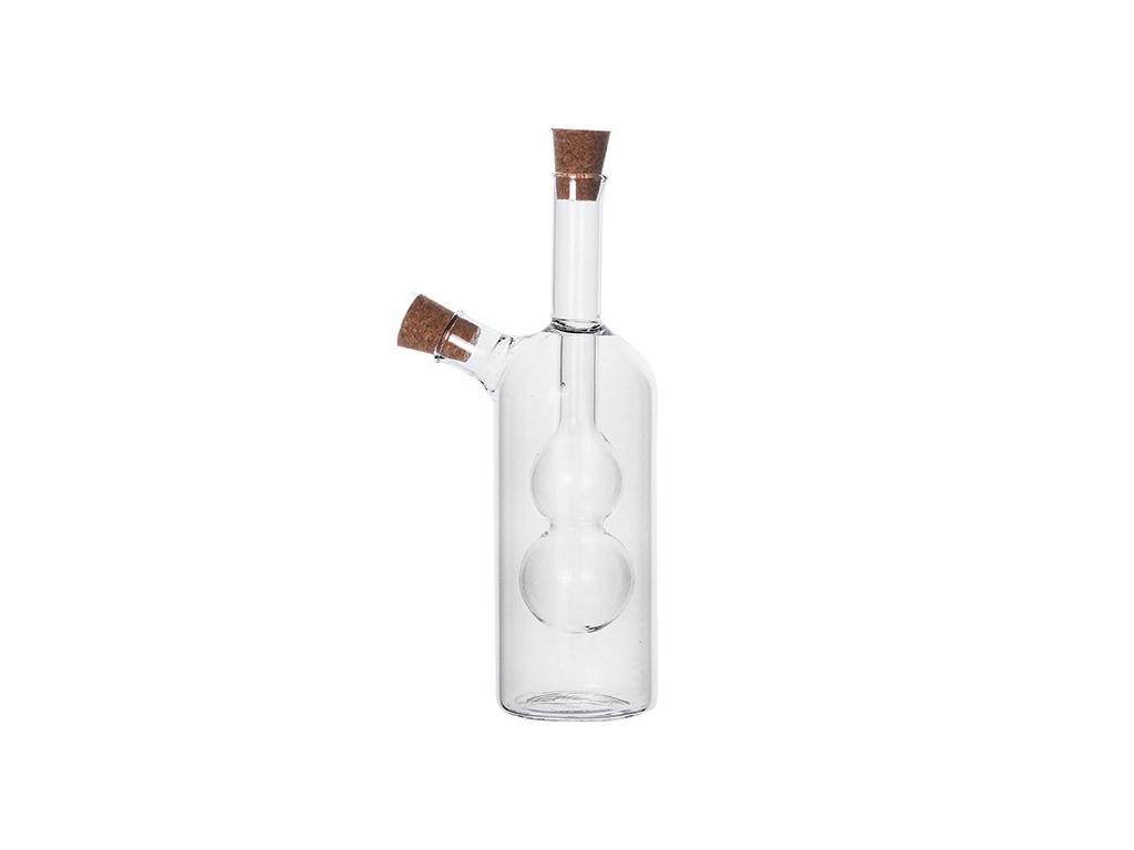 Luigi Ferrero Γυάλινο Μπουκάλι Λαδιού Ξυδιού σε Μοντέρνο σχεδιασμό 2 σε 1, FR-6051 - Luigi Ferrero