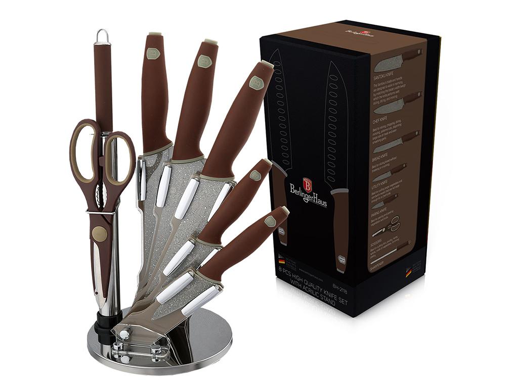Berlinger Haus Σετ Μαχαίρια Κουζίνας Αντιβακτηριδιακά Αντικολλητικά 8 τεμ. συν Ψ αξεσουάρ και εργαλεία κουζίνας   μαχαίρια κουζίνας