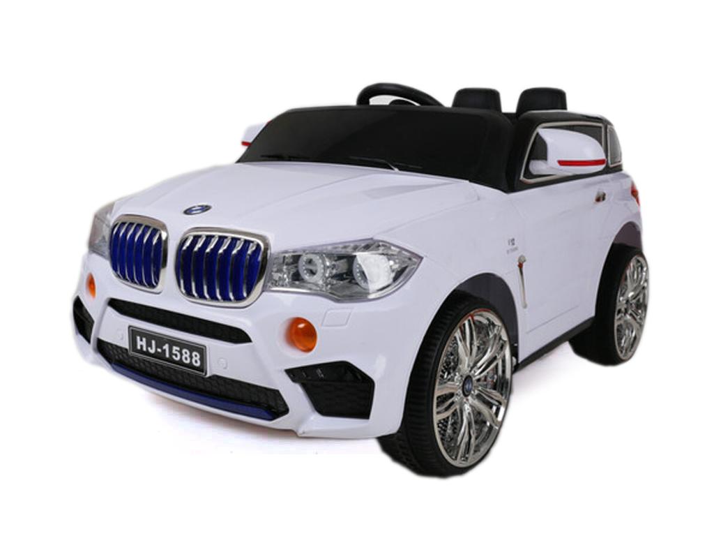 Παιδικό Ηλεκτροκίνητο Μονοθέσιο Αυτοκίνητο Jeep Τύπου BMW X6 12V με Χειριστήριο 138x60x47cm, HJ-1588 Χρώμα Λευκό - Cb