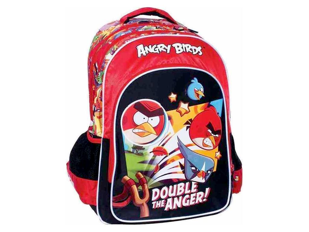 Σχολική Ανατομική Τσάντα Δημοτικού Σακίδιο Πλάτης με θέμα Angry Birds, 50-1945 - σχολικά είδη   σχολικές τσάντες