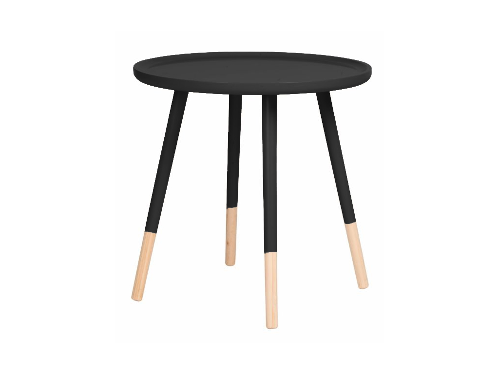 Homestyle Μοντέρνο Ξύλινο Στρογγυλό Τραπεζάκι με Τετράποδη Βάση 60x48cm, 99487 Χ έπιπλα   τραπέζια και καρέκλες