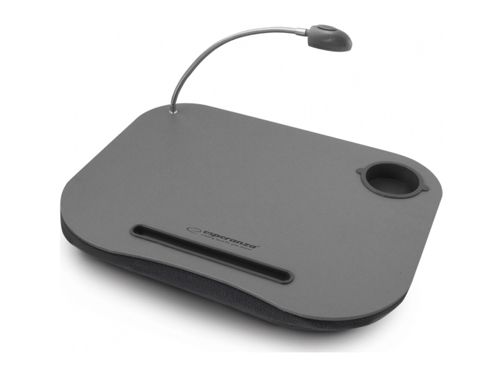 Esperanza Φορητή Βάση για Laptop, Tablet με LED Λάμπα και Θήκη για ποτήρι 44x34x περιφερειακά και αναλώσιμα   αξεσουάρ υπολογιστών