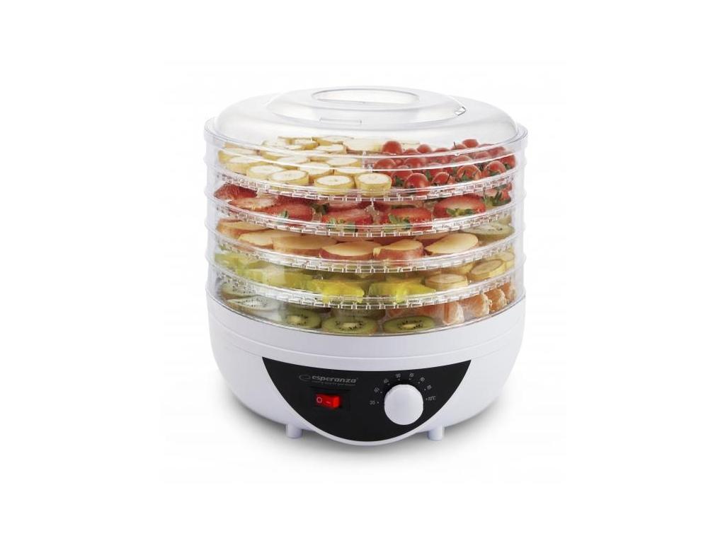 Esperanza Αποξηραντής τροφίμων, φρούτων και λαχανικών 250W με 5 ράφια 28x22x28.2 ηλεκτρικές οικιακές συσκευές   αποξηραντές τροφίμων