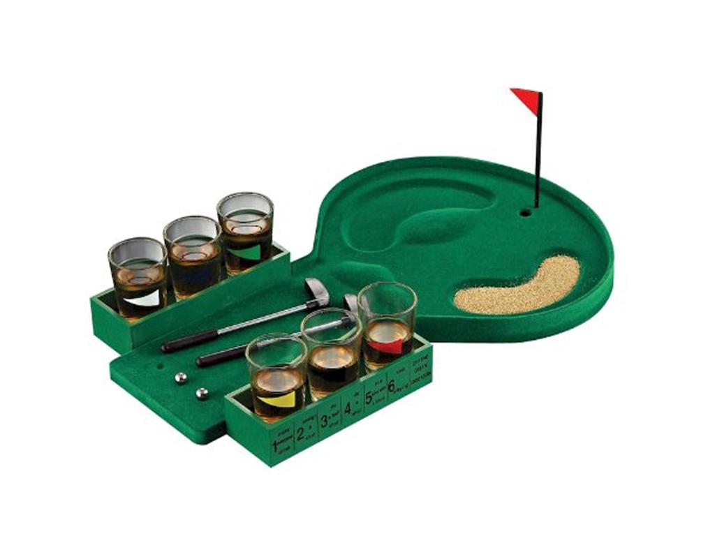 Παιχνίδι με ποτά Golf Drinking Game με 6 ποτήρια, 2 σφυριά και 2 μπάλες - OEM παιχνίδια   άλλα παιχνίδια