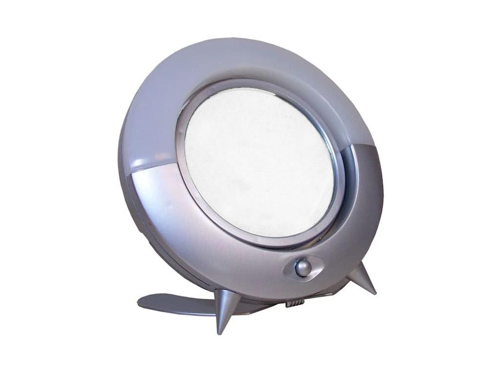 Touch Of Beauty Φωτιζόμενος LED Μεγεθυντικός Καθρέφτης 22cm δύο όψεων με δυνατότητα περιστροφής 360 μοίρες, 00159 - Touch of Beauty