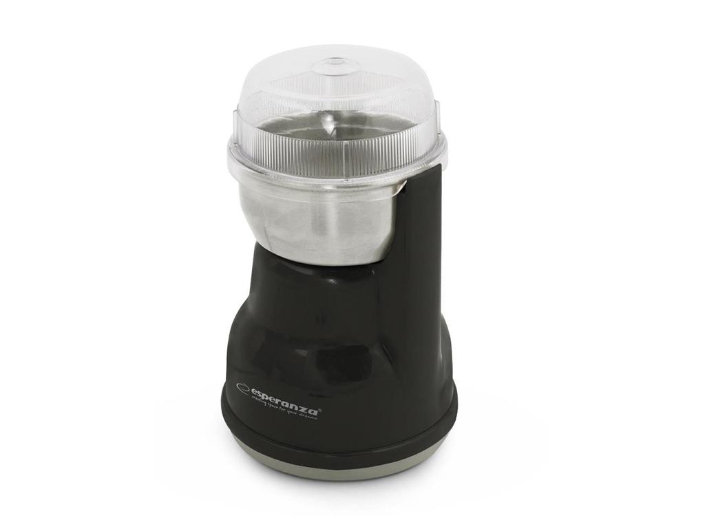 Esperanza Ηλεκτρικός Μύλος Άλεσης Καφέ και Μπαχαρικών 160W σε Μαύρο χρώμα, EKC002K - Esperanza