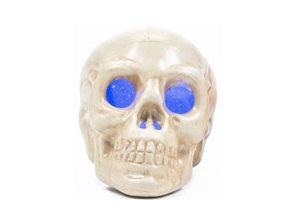 Arti Casa Αποκριάτικο Halloween Διακοσμιτικό Κρανίο 9x9x11cm με LED, 00488 Χρώμα εποχιακά   αποκριάτικα είδη