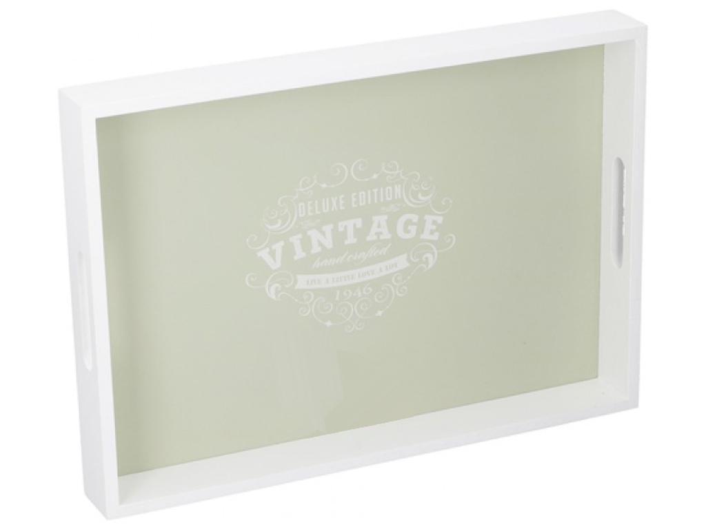Arti Casa Ξύλινος Δίσκος Σερβιρίσματος 40x28x4.5cm με Ανοιχτές λαβές σε Λευκό Χρ σερβίρισμα   δίσκοι  πιατέλες και ορντεβιέρες