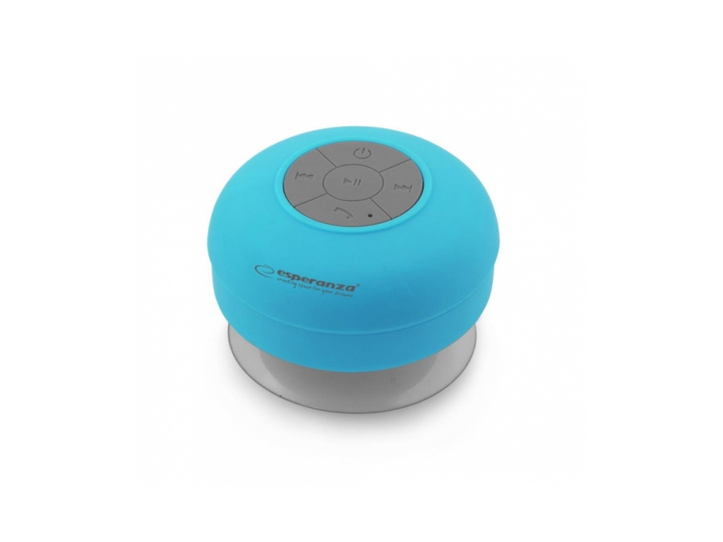 Esperanza Mini Αδιάβροχο Φορητό Ηχείο Bluetooth 3W Βεντούζα σε Γαλάζιο χρώμα, EP ήχος   bluetooth και μικρά ηχεία